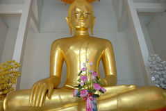 Sitting buddha,bangkok, thaila stock photo