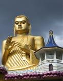 Sitting Buddha. The Golden Temple in Dambulla, Sri Lanka Stock Photography