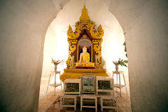 Sitting Buddha into Hsinbyume Pagoda in Myanmar. Royalty Free Stock Image