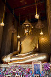 Sitting Buddha Image. The huge Buddha at Wat Kalayanamit, Bangkok, Thailand Stock Photos