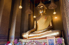 Sitting Buddha Image. The huge Buddha at Wat Kalayanamit, Bangkok, Thailand Royalty Free Stock Photos