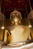 Sitting Buddha Image. The huge Buddha at Wat Kalayanamit, Bangkok, Thailand Stock Image