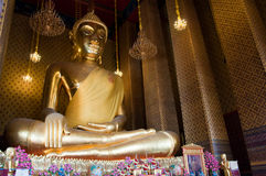 Sitting Buddha Image. The huge Buddha at Wat Kalayanamit, Bangkok, Thailand Royalty Free Stock Image