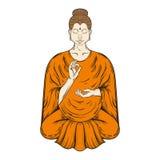 Sitting Buddha in Lotus pose, teaching Buddhism Royalty Free Stock Photo