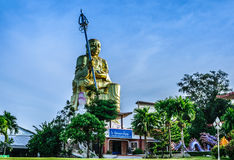 SITTING BUDDHA Mahapanya Vidayalai. Pagoda at Mahapanya Vidayalai UNIVERSITY IN HATYAI THAILAND. THE COLLEGE FOR THE WISDOM,  INTERNATION BUDDIST COLLEGE Royalty Free Stock Photography