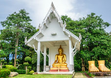 SITTING BUDDHA. The most respected Buddha image in Hat Yai is Phra Buddha Mongkol Maharaj. This Standing Buddha, on a hilltop in the municipal park, is 19.90 Royalty Free Stock Photo