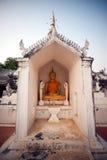 Sitting Buddha in Pagoda. Stock Photos