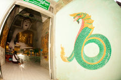 Sitting Buddha in Shwe Kyat Yat Pagoda,Myanmar. Stock Photography