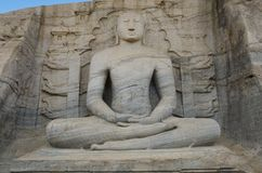 Sitting buddha. Sri Lanka Stock Photography