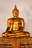 Sitting Buddha statue close up, Thailand Royalty Free Stock Photography