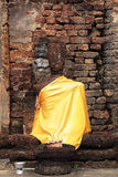 Sitting Buddha statue at Srisatchanalai historical park Stock Photos