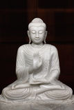 Sitting Buddha statue in temple royalty free stock photography