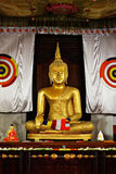 Sitting Buddha statue in Temple royalty free stock photos