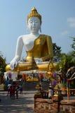 Sitting Buddha statue. Wat Phra That Doi Kham temple. Tambon Mae Hia, Amphoe Mueang. Chiang Mai province. Thailand Royalty Free Stock Photo