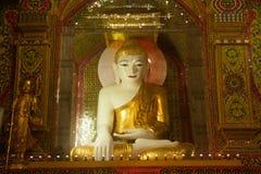 Sitting Buddha in Sutaungpyai Pagoda,Mandalay Hill. Stock Image