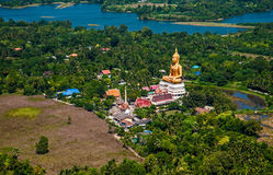 Sitting Buddha Temple from the air. Sitting buddha temple in Thailand from the air Royalty Free Stock Photography