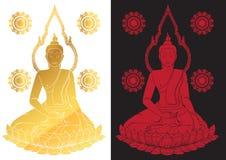 Sitting Buddha Vector illustration Royalty Free Stock Image