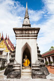 Sitting Buddha in wat pratat chaiya Royalty Free Stock Photography