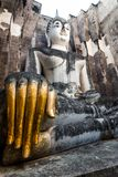 Sitting Buddha in Wat Si Chum temple, Sukhothai Royalty Free Stock Photography
