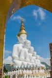 5 Sitting Buddhas statue Stock Image
