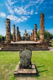 Sitting Budha in Wat Mahathat, Sukhothai,Thailand. Stock Photos