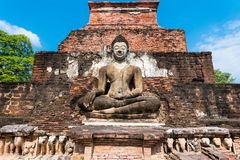 Sitting Budha in Wat Mahathat, Sukhothai,Thailand. royalty free stock photos