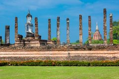 Sitting Budha in Wat Mahathat, Sukhothai,Thailand. Stock Photo