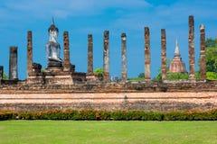 Sitting Budha in Wat Mahathat, Sukhothai,Thailand. Stock Photo