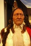 Sitting Bull Wax Figure stock photography