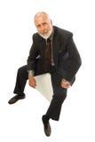 Sitting businessman Royalty Free Stock Photos