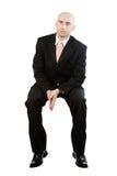 Sitting businessman royalty free stock photography