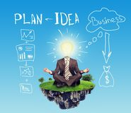 Sitting businessman Royalty Free Stock Images