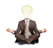 Sitting businessman Stock Image