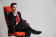 Sitting businessperson Stock Photo