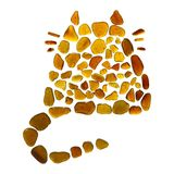 Sea glass cat Royalty Free Stock Image