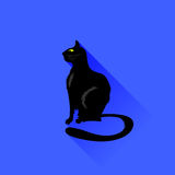 Sitting Cat Icon Royalty Free Stock Photo