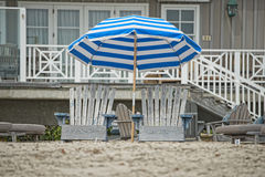 Sitting chairs on the beach Royalty Free Stock Images