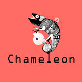 Sitting on the chameleon plant. Vector graphic image sitting on the chameleon plant Stock Photography
