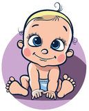 Sitting cheerful baby. Royalty Free Stock Photo