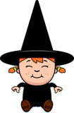 Sitting Child Witch Stock Photography