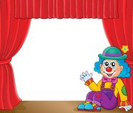 Sitting clown theme image 2 Stock Photography