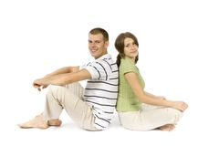 Sitting couple Royalty Free Stock Photography