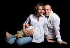 Sitting couple Stock Image
