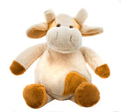 Sitting cow soft toy Stock Image