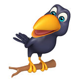 Sitting Crow cartoon character Stock Photo