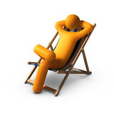 Sitting on deck chairs enjoying vacation Royalty Free Stock Images