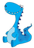 Sitting dinosaur stock illustration