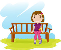 Sitting down Royalty Free Stock Images