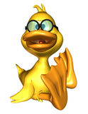 Sitting duck. 3D rendering of a sitting duck in comic style Stock Photography