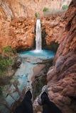 Mooney Falls, Supai, AZ royalty free stock photos
